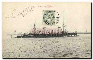 Old Postcard Boat War The Martel Charters