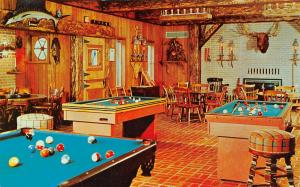 Batesville IN Jawacdah Farm: Bumper Billiards & Pool Table~Big Game Trophy~1950s