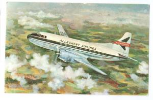 Allegheny Airlines Mid Atlantic 1957 Vintage Aviation Postcard Airplane Aircraft