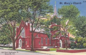 St. Mary's Church, West Washington St., Greenville, South Carolina 1930-40s