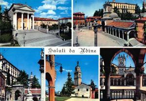 Vintage 1966 Postcard Saluti da Udine Greetings from UDINE Italy Multiview