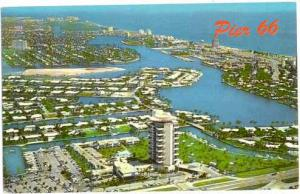Air View of Pier 66, Fort Lauderdale, Florida, FL, 1969 Chrome