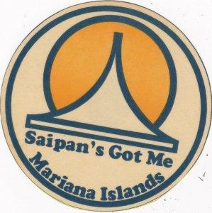 Mariana Islands Saipan Vintage Luggage Label sk2020