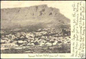 south africa, CAPE TOWN, Table Mountain, Gardens (1904)