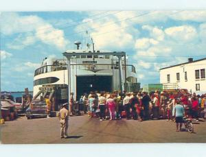 Unused Pre-1980 ISLAND FERRY BOAT Cape Cod - Woods Hole Massachusetts MA hn0656