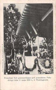 Washington DC President Taft Pulaski Monument Vintage Postcard AA8765