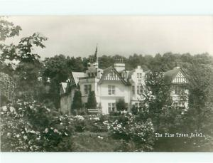 RPPC Pine tree Hotel Motel Aerial View Dundee London  Postcard # 6758