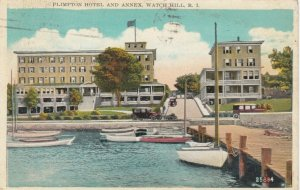 WATCH HILL, Rhode Island, PU-1929; Plimpton Hotel and Annex