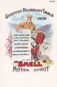 Scottish Reliability Trials Scottish Vintage Shell Petrol Postcard