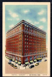 Hotel Savery,Des Moines,IA BIN