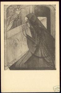 Dutch Symbolist JAN TOOROP - Holy Communion II (1925)