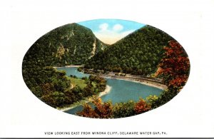 Pennsylvania Delaware Water Gap View Looking East From Winona Cliff Curteich