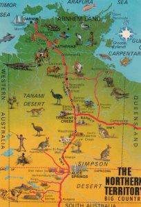 Northern Territory , Australia , 50-70s ; Map