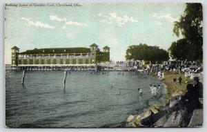 Cleveland Ohio~Gordon Park Bathing Scene~Bath House~Kids on Life Life~c1910