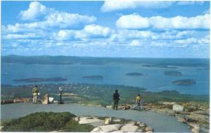 Harbor & Porcupine Islands from Mt. Cadillac, Mt. Desert Island, Maine ME