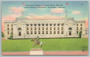 Wilmington Delaware~Municipal Building & Court House~Vintage Postcard