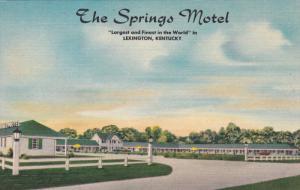 LEXINGTON, Kentucky, 1930-1940´s; The Springs Motel
