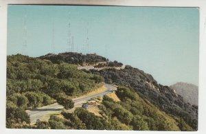 P2236 vintage postcard unions oil companies tv transmitters atop mt wilson calif