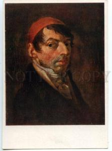 154635 Self-Portrait Jan RUSTEM Lithuanian Painter Old colorPC