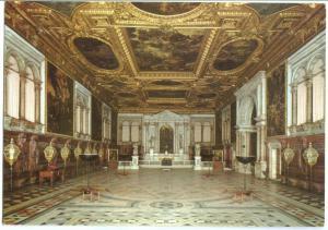 Italy, Venice, Venezia, Scuola Grande di San Rocco, La Grande Sala, Postcard
