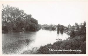 Midland Michigan~Lost Pennsylvania Thru Truss Bridge~Factory Mill~RPPC c1940