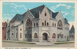 First Baptist Church, Galesburg, Illinois, 1910-1920s