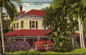 Florida Fort Myers Thomas A Edison Winter Home 1949 Curteich