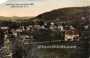 Airiel View showing Silver Hall Jeffersonville NY 1915