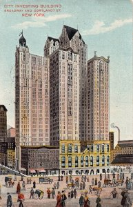 City Investing Building, Manhattan, New York City, Early Postcard used in 1909