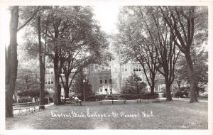C54/ Mt Mount Pleasant Michigan Mi RPPC Postcard c40s Building Central College 3