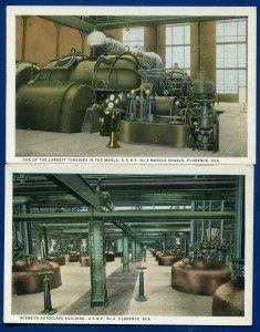 2 Florence Alabama al Muscle Shoals turbines Autoclave building postcards