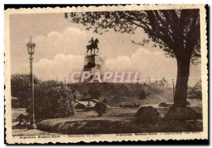 Old Postcard Argentina Buenos Aires Monument Miter
