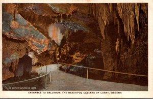 Virginia Caverns Of Luray Entrance To Ballroom
