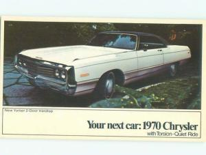 1970 Postcard Ad CHRYSLER NEW YORKER TWO-DOOR HARDTOP CAR AC6186-12