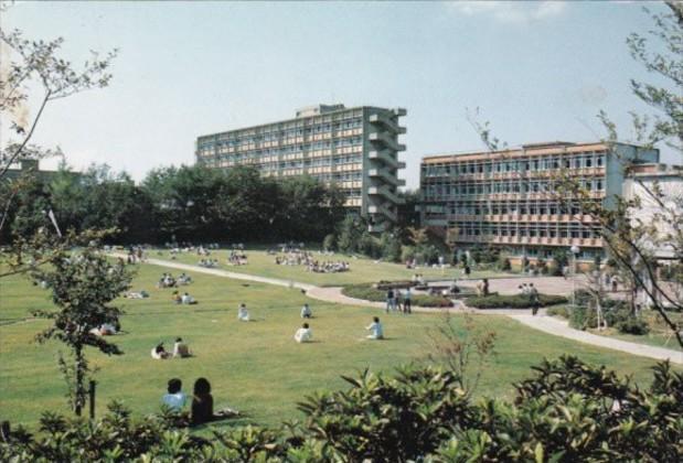 Japan Nagoya Nanzan University Pache Square and Surrounding Lawn