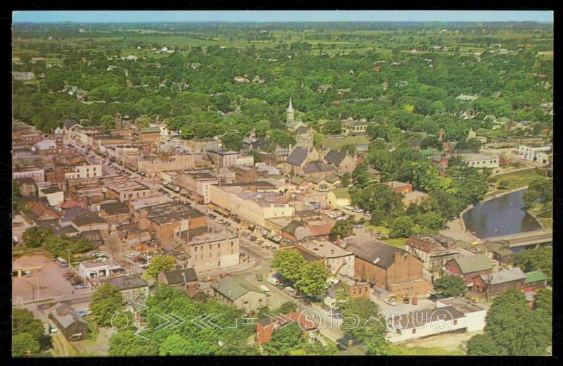 Birds eye view of Lindsey, Ontario