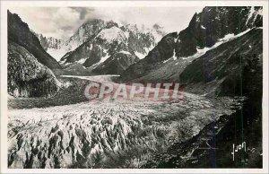 Old Postcard Chamonix Haute Savoie Sea ice in the bottom of the Grandes Jorasses