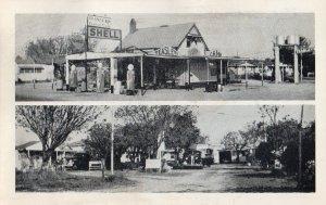 12683 Teasley's Cottage Camp & Shell Gas Station, Blythe, Georgia