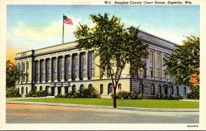 Wisconsin Superior Douglas County Court House Curteich