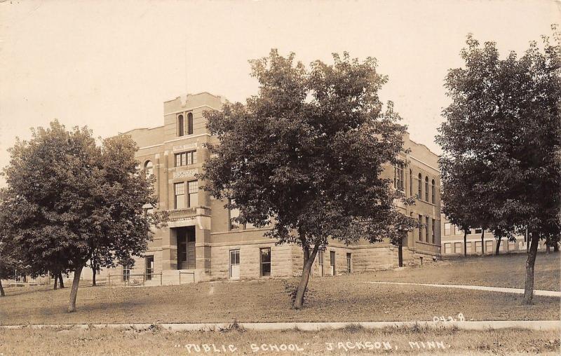Jackson Minnesota~Public School House~1920s Real Photo Postcard~RPPC