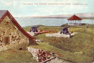 VIEW FROM THE POWDER MAGAZINE FORT ANNE ANNAPOLIS NOVA SCOTIA CANADA