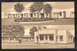 GALLUP NEW MEXICO ROUTE 66 WEST SIDE AUTO COURT VINTAGE ADVERTISING POSTCARD