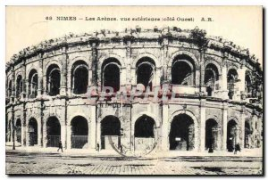Postcard Old Nimes Arenes The external dimension West View