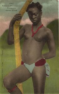 CPA Senegal Ethnic Nude Fortier - 1107. Francaise Jeune Ebrié (70922)