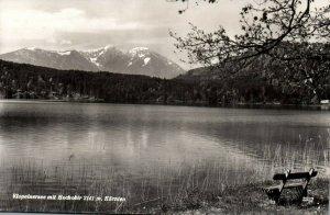 RPPC Carinthia Austria Lake Klopein Hochobir Mountain Postcard