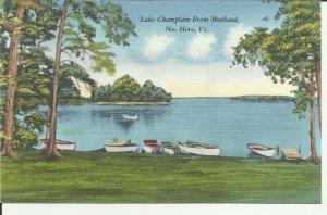 Lake Champlain From Birdland, No. Hero, Vt