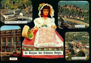 Belgium Ardennes Belges La Roche Spa Bonillon River Castle Postcard