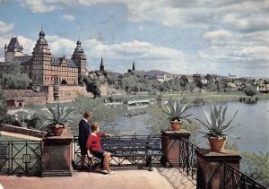Schloss Johannisburg Aschaffenburg vom Pompejanum Castle