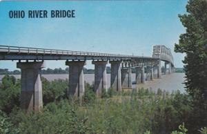 Ohio River Bridge, SHAWNEE HILLS, Illinois, 40-60's
