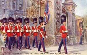 UK - England, London, Scots Guards, Buckingham Palace   *Artist Signed: W. H....